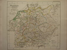 1846 SPRUNER ANTIQUE HISTORICAL MAP ~ ITALY ROME SICILY CAMPANIA