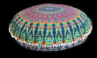 "32"" Mandala Round Floor Pillows Large Floor Pillows Indian Pillow Cushion Cover"