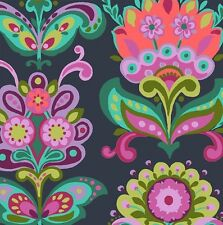 Bright heart - Folk Bloom midnight by Amy butler cotton quilting fabric