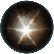 ONE 5mm Round Black Star Sapphire Cab Cabochon Gem Stone Gemstone EBS1241