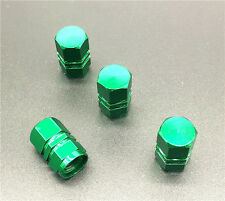 4PCS green Aluminum Tire Wheel Rims Stem Air Valve Caps Tyre Cover Car