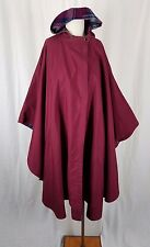 Vintage Hallelujah All Weather Hooded Wool Plaid Lined Cape Wrap Shawl Womens OS