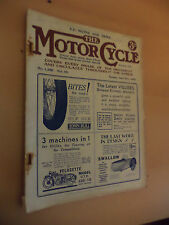 OLD VINTAGE THE MOTORCYCLE MAGAZINE 1930S 27 apr 1933 MOTORBIKE 3 wheelers