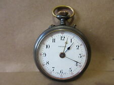 Schlaefli Trusty Swiss Made Pocket Watch 5 Jewels 1 Adjustment #77899 Steel Case