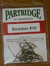 Partridge Bomber #10 Fly Tying Hooks Qty=25