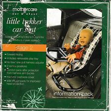 MOTHERCARE LITTLE TREKKER CAR SEAT INSTRUCTIONS.