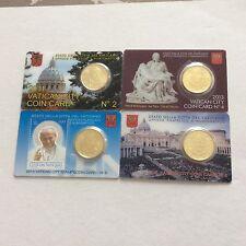 4 coincards d'une pièce de 50 cts d'€ Vatican