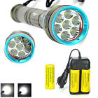 New Diving Scuba 20000LM 7x XM-L L2 LED Under 200m 18650/26650 Flashlight Torch