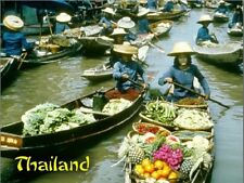 """+""""Floating Market...Ladies Sell Food From The Canoes""""-  ~Post Card~"""