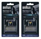 BRAUN 2 Pack x 30B Series 3 Foil&Cutter Cassette Shaver 7000/4000 Series Shaver