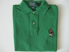 POLO RALPH LAUREN Men's Classic-Fit Green RL14 BEAR Mesh Polo Shirt L