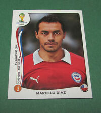 N°158 MARCELO DIAZ CHILE CHILI PANINI FOOTBALL FIFA WORLD CUP BRAZIL 2014 BRASIL