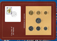Coin Sets of All Nations Lesotho w/card 1979 & 1983 UNC 25 Lisente & 1 Loti 1979