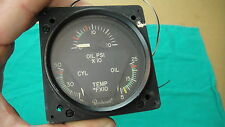 Aircraft Beechcraft Oil Cylinder Temp Oil Pressure Gauge Cluster Edo-Aire ~NICE~