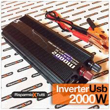 INVERTER AUTO CAMPER BARCA CAMPEGGIO 2000 W PROFESSIONALE 12V 220V PRESA USB