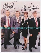 LAW AND ORDER CAST AUTOGRAPHED 8x10 RPT PHOTO SAM WATERSTON JERRY ORBACH BRATT