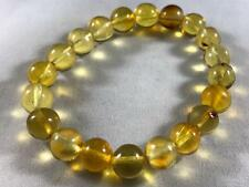 DOMINICAN AMBER CLEAR BRACELET GREEN MIX UNIQUE STONE GEM 8.0g 8-9mm