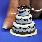 Wedding Cake for 1:12 Scale dollhouse miniature handmade polymer clay wc001