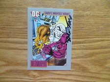 1991 DC COSMIC METAMORPHO JUSTICE LEAGUE CARD SIGNED BART SEARS ART,WITH POA