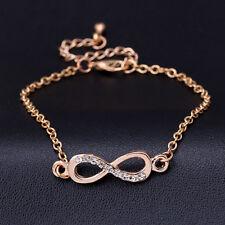 Infinity Armband Blogger Farbe Gold Armkette Schmuck Eternity Unendlichkeit