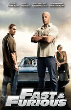 Fast and the Furious movie poster print - Vin Diesel poster, Paul Walker poster