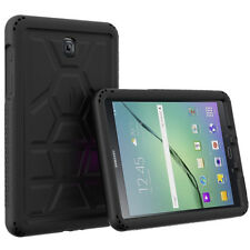 Black Poetic Turtle Skin Bottom Air Vents Case for Samsung Galaxy Tab A 8.0