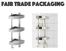 Scaffale per doccia in acciaio inox 3 piani unità bagno Angolo Parete Scaffale GRUNDTAL IKEA
