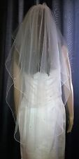 "Ivory fingertip veil scattered with Swarovski crystals 30""/42"" 2T full Circle"