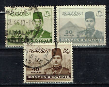 Egypt King Farouk I and Famous Architecture stamps 1939