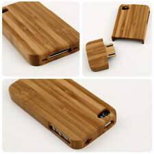 Natural Bamboo Wood Hard Back Case Cover Protector for Apple iPhone 4 4G 4S FO