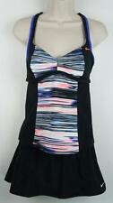 NWT 2PC Set Nike Black Skirtini Bikini Tankini Swimsuit Size 6 Retail $94 #3392