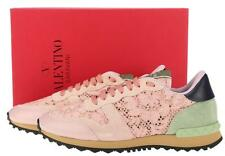 NEW VALENTINO GARAVANI ROCKRUNNER MACRAME LACE LOW TOP SNEAKERS SHOES 39
