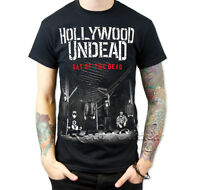 Hollywood Undead Day of the Dead Tour Men Black Tee T-Shirt All Size