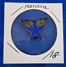 Masonic Blue Star with Wings S.P.C. A.C. Fraternal Pin Pinback Button 7/8""