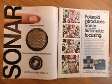 1978 Polavision from Polaroid Ad OneSteps Introduces Sonar Automatic Focusing