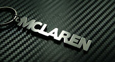 MCLAREN Personalised Name Keyring Keychain Key Fob Bespoke Stainless Steel Gift