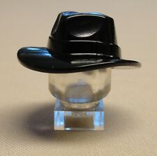 x1 NEW Lego Minifig Headgear Hat Wide Brim Outback Style Fedora Black