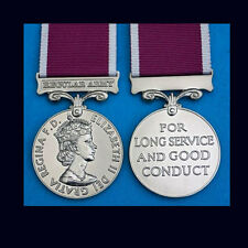 Official FULL SIZE LS&GCM Army Long Service & Good Conduct Medal + Ribbon