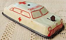 VINTAGE 1940's-50's ARGO TIN LITHOGRAPH AMBULANCE TOY CAR WITH RINGING BELL