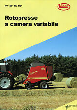 "PUBBLICITA' WERBUNG "" VICON : ROTOPRESSE A CAMERA VARIABILE RV 1601- RV 1901 """