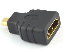 HDMI Type A Female to Micro HDMI Type D Male Black Adapter Converter Connector