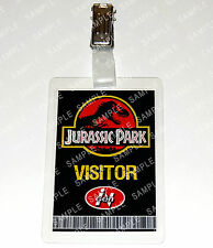 Jurassic Park ID Badge Dinosaur Visitor Pass Cosplay Costume Prop Gift Christmas
