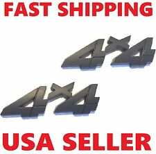 X2 Black 4 X 4 Smoked 3D EMBLEM 4X4 CAR TRUCK FORD DECAL SIGN BADGE ornament .tr