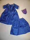 """American Girl Doll Retired Felicity Meet Outfit Dress Gown Skirt 3 Pcs 18"""""""