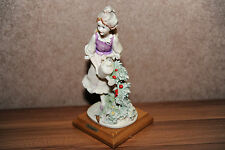 ORIGINALE GIUSEPPE ARMANI FLORENCE Lady with watering signora personaggio FIGURINE ITALY