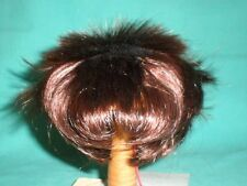 "doll wig reddish brown 10"" to 10.5"" Glorex  spikey hair"