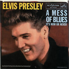 "ELVIS PRESLEY  ""A MESS OF BLUES""    CLASSIC     RED VINYL  LISTEN"