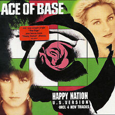 "ACE OF BASE ""HAPPY NATION"" HIT ""ALL THAT SHE WANTS"" US VERS. 4 NEW TRACKS NEW CD"