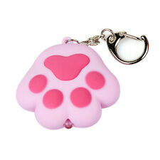 1x LED light Cat Paw With Sound Lovely Torch Keyring Keychain Gift Fashion Cute