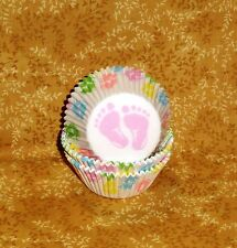 Baby Shower Cupcake Paper,Feet,Standard Size,Paper,Wilton,Multi-color,415-113